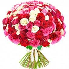 Букет 101 роза микс